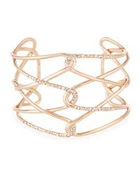 Alexis Bittar | Metallic Rose Golden Barbed Crystal Cuff Bracelet | Lyst