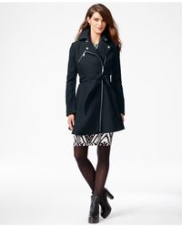 BCBGeneration | Blue Flared Asymmetrical Walker Coat | Lyst