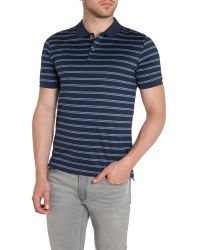 Michael Kors | Blue Stripe Polo Regular Fit Polo Shirt for Men | Lyst