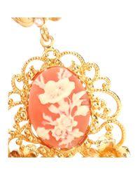 Dolce & Gabbana Metallic Embellished Clip-on Earrings