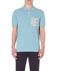 Paul Smith | Blue Patch-pocket Cotton Polo Shirt - For Men for Men | Lyst