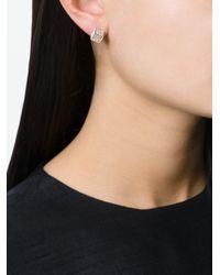 Vita Fede | White Pavé Set Cube Earrings | Lyst