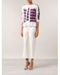 Olympia Le-Tan | White 'Radium' Knit Twin Set | Lyst