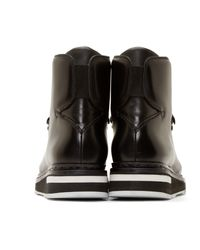 OAMC Black Leather Karakoram Boots for men