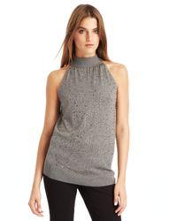 Kenneth Cole | Gray Addison Rhinestone Embellished Sweater | Lyst