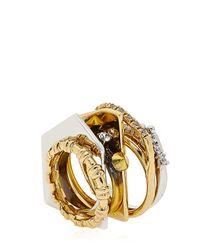 Iosselliani - Metallic Tropical Baroque Seven Ring Set - Lyst