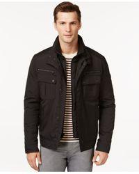 Michael Kors | Black Michael Oxford Hipster Jacket for Men | Lyst
