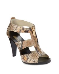 MICHAEL Michael Kors Brown Berkley T Strap Sandals