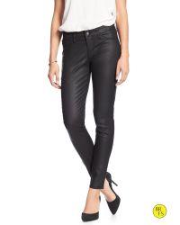 Banana Republic | Black Factory Coated Legging Jean | Lyst