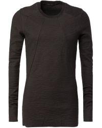 Julius - Black Paneled Long Sleeve T-shirt for Men - Lyst