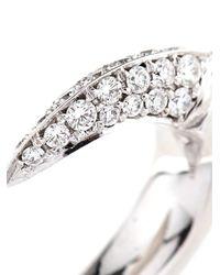 Shaun Leane | Metallic Diamond & White-Gold Talon Earrings | Lyst