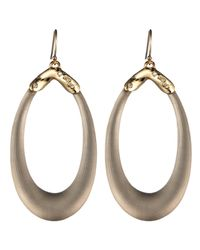 Alexis Bittar | Gray Liquid Metal Cap Soft Link Wire Earring | Lyst