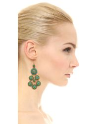 Miguel Ases Blue Janine 14-Karat Gold Turquoise Earrings