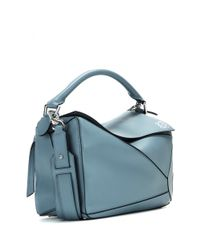 Loewe Blue Puzzle Small Leather Bag