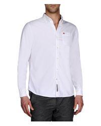 Napapijri   White Long Sleeve Shirt for Men   Lyst