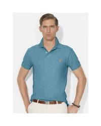 Polo Ralph Lauren - Blue Slim-Fit Mesh Polo for Men - Lyst