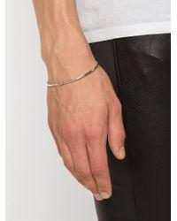 Werkstatt:münchen | Metallic Thin Hook Bangle | Lyst