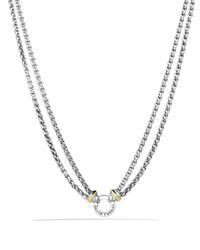 "David Yurman Metallic Double Wheat Chain Necklace With Gold, 16"""