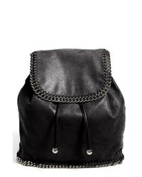 Stella McCartney | Black 'falabella - Shaggy Deer' Backpack | Lyst