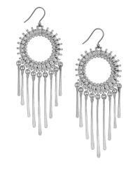 Lucky Brand | Metallic Fringed Circle Earrings | Lyst