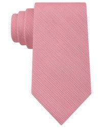 Calvin Klein | Pink Sunrise Pinstripe Slim Tie for Men | Lyst