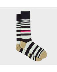Paul Smith | Black Multi Stripe Socks for Men | Lyst