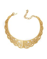 Oscar de la Renta | Metallic Bib Necklace | Lyst