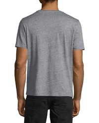 PRPS Gray Nyc Logo Short-sleeve Graphic T-shirt for men
