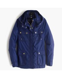 J.Crew | Blue Hooded Downtown Field Jacket With Zip-out Vest | Lyst