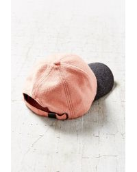 Urban Outfitters | Pink Wooly Colorblock Baseball Hat | Lyst