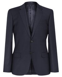 Reiss Blue George Slim Fit Suit Jacket for men