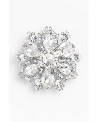 Nina - Metallic 'treasure Floral' Crystal Brooch - Lyst