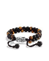 David Yurman   Brown Spiritual Beads Two-Row Bracelet, 6Mm for Men   Lyst
