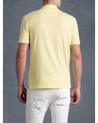 John Varvatos - Yellow Peace Polo for Men - Lyst