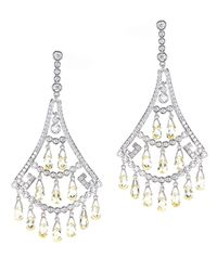 Kenneth Jay Lane | Metallic Hanging Fan Earrings | Lyst