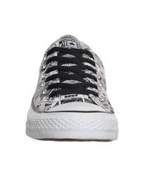 Converse - Black All Star Low - Lyst