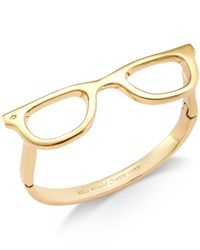 kate spade new york | Metallic 12K Gold-Plated Glasses Bracelet | Lyst