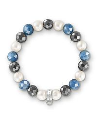 Thomas Sabo | Multicolor Charm Club Royal Blue Stone Bracelet | Lyst