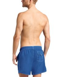 BOSS Blue Plain-coloured Swim Shorts In A Quick-drying Fabric: 'lobster' for men