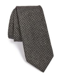 Todd Snyder Gray Houndstooth Cotton Tie for men