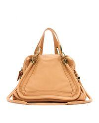Chloé Natural Paraty Medium Leather Shoulder Bag