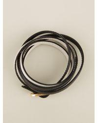 Fendi Black Wrap Around Bracelet