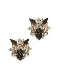 Anton Heunis | Metallic Gold Plated Swarovski Crystal Cluster Earrings | Lyst