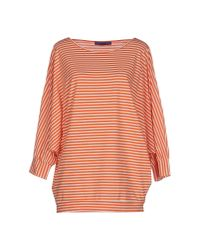 Blue Les Copains - Orange T-shirt - Lyst