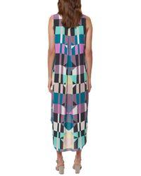 Mara Hoffman | Purple Geometric-Print Shirt Dress  | Lyst