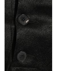 Sonia Rykiel - Black Backless Hammered-Satin Jumpsuit - Lyst