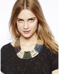 Pull&Bear - Black Necklace with Beads - Lyst