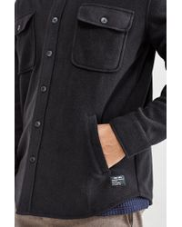 Obey - Black Lafayette Polar Fleece Shirt Jacket for Men - Lyst