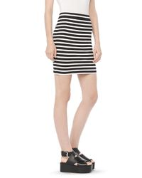 Alexander Wang | Black Engineered Stripe Pencil Skirt | Lyst