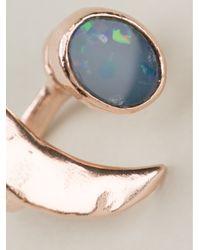 Bjorg - Metallic Moon Earrings - Lyst